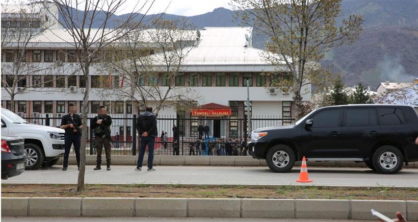 Dersim'de Valiliğin önündeki polis noktasına silahlı saldırı