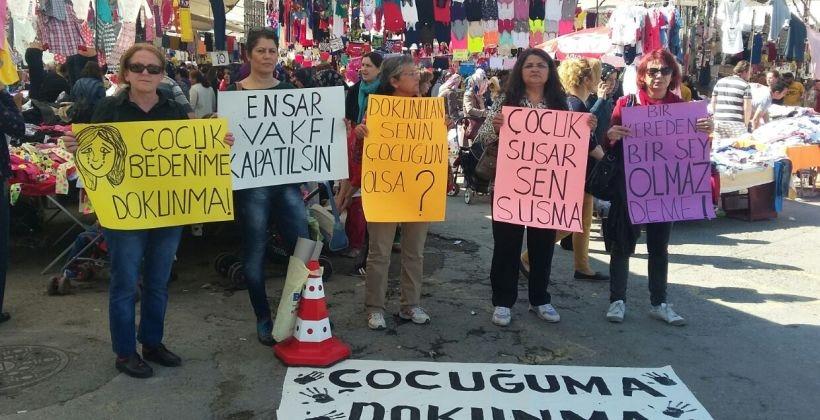 BEKEV'li kadınlar Ensar Vakfı'nı protesto etti