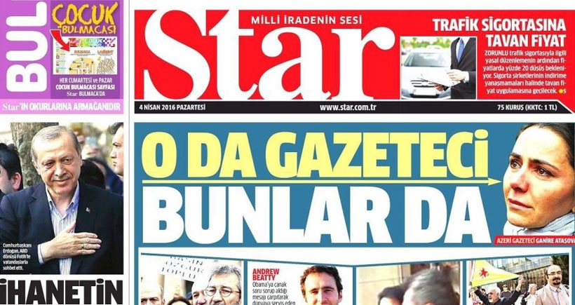 Star'ın hedefinde yine gazeteciler vardı