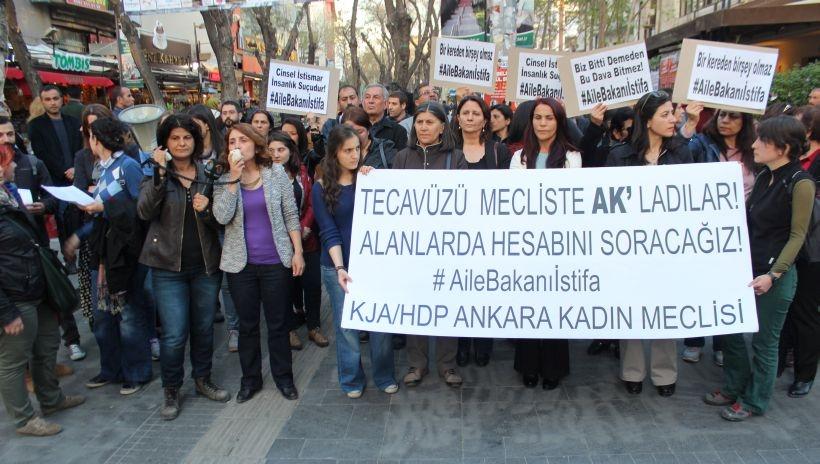 HDP- KJA Kadın Meclisleri, istismarcıları koruyanları protesto etti