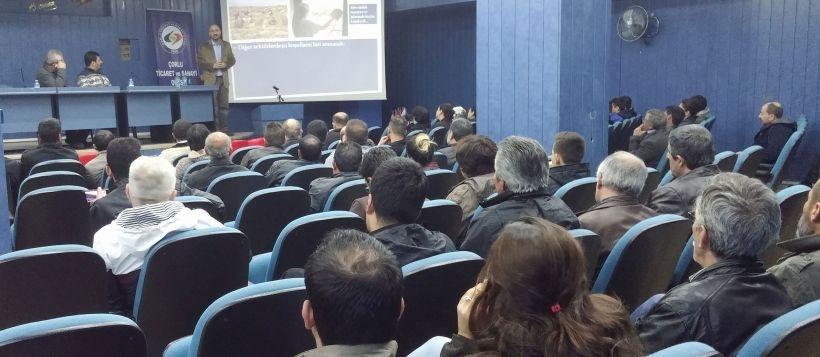 Çorlulu işçiler saldırı yasalarını ve 1 Mayıs'ı konuştu