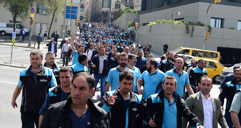 İSPARK işçileri yürüdü: Can güvenliği talep ettiler