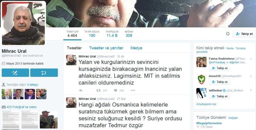 Yaşamını yitirdiği iddia edilen Mihraç Ural'ın Twitter hesabı hareketlendi