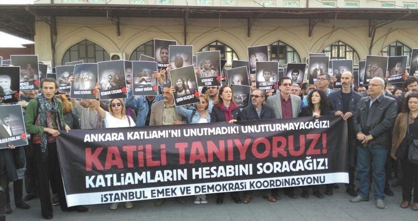 İstanbul'da Ankara Katliamı 6. ayında da unutulmadı