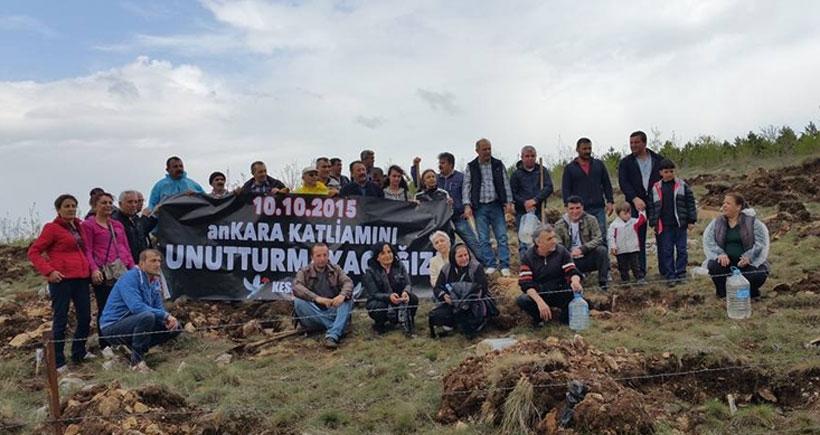 Çorum'da Ankara Katliamında yaşamını yitirenler adına Barış Ormanı oluşturuldu