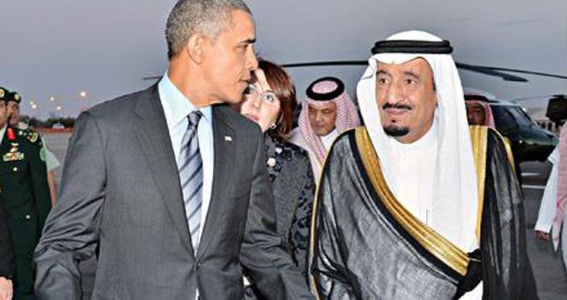 Obama Riyad'a gitti