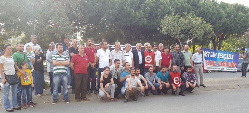 HDP, Dostcam işçilerini ziyaret etti