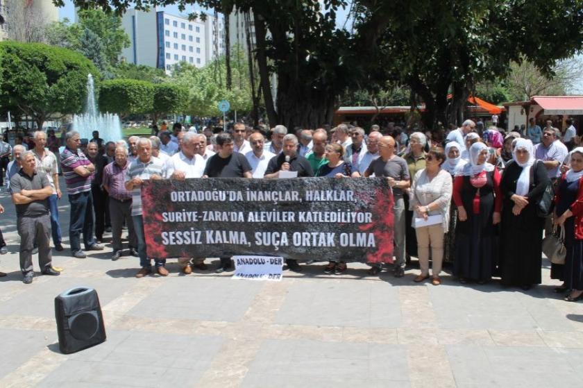 Hama'daki Alevi katliamı Adana'da kınandı