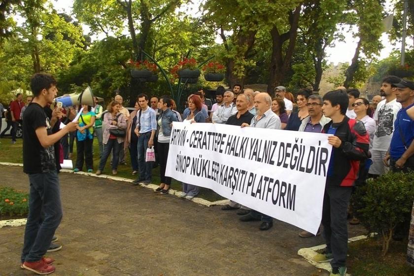 Sinop'ta Cerattepe eylemi: Artvin halkı yalnız değildir!