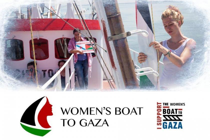 Kadınlar Gazze ablukasına karşı gemi kaldırıyor