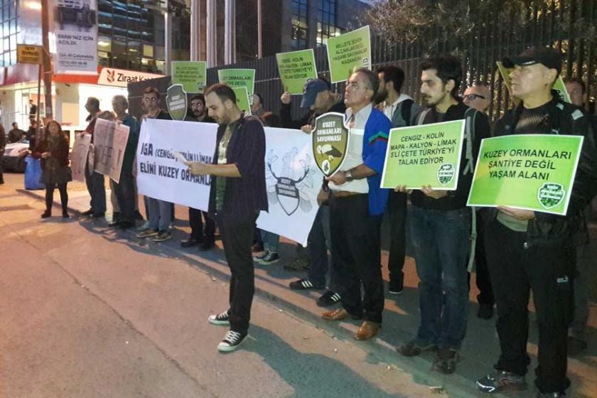 Ormanlık alana taş ocağı yapılması protesto edildi