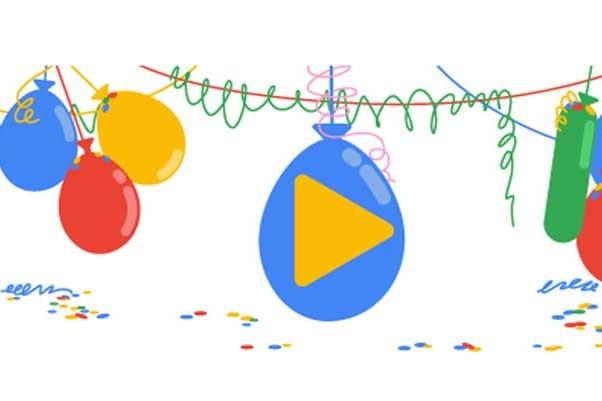Google  18. yaşına özel doodle yaptı