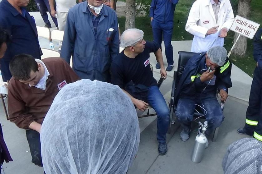 Bisküvi fabrikasında yangın: 18 işçi hastanelik oldu