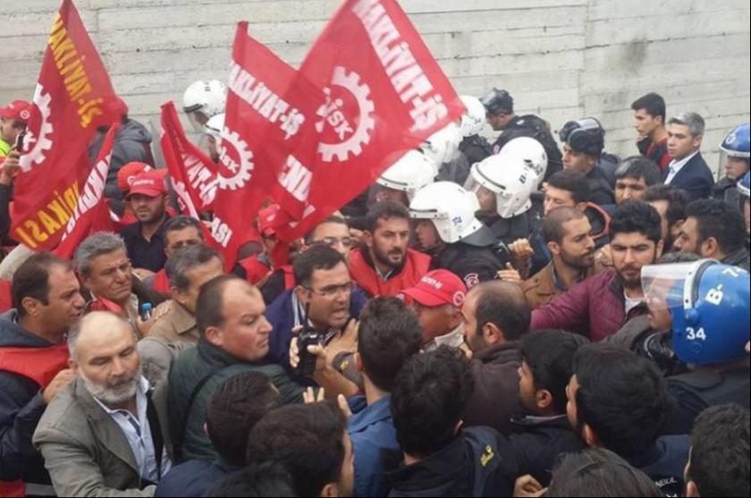 MSC/MEDLOG işçilerine polis saldırdı