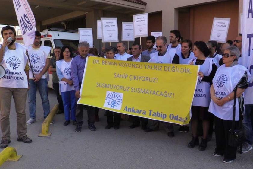 Sağlık emekçileri ATO yöneticisi Dr. Koyuncu'ya sahip çıktı