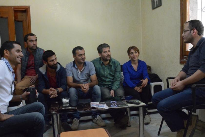 Diyarbakır'da kamu emekçilerinden Hayatın Sesi TV'ye ziyaret