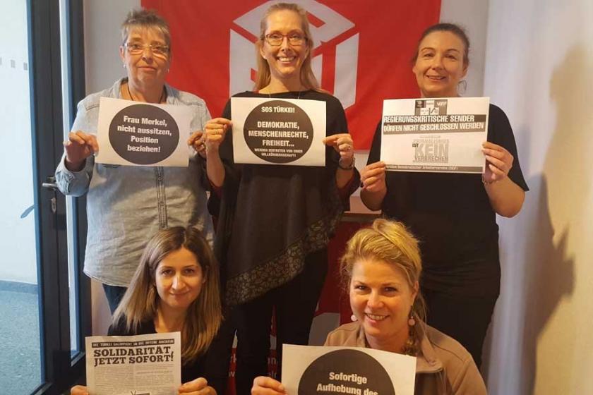IG BAU'dan Hayatın Sesi TV'ye dayanışma mesajı