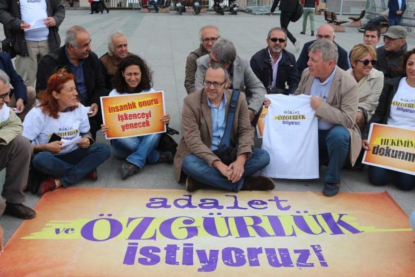 Adliye önünde 'Adalet ve özgürlük eylemi' başladı