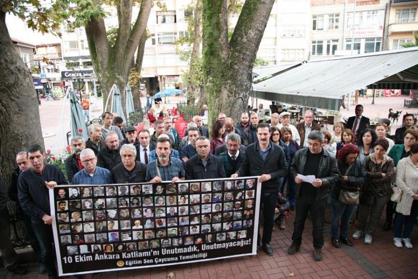 Ankara Katliamı'nda yaşamını yitirenler Çaycuma'da anıldı