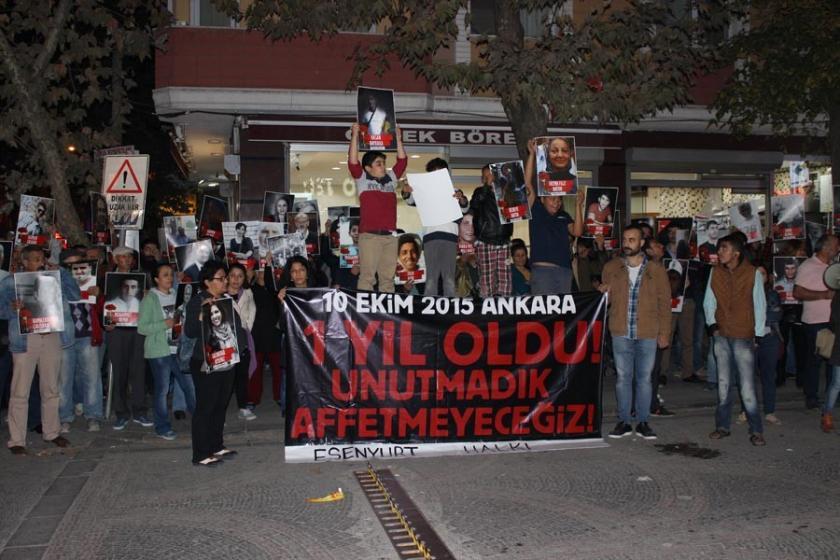 Ankara katliamında hayatını kaybedenler Esenyurt'ta anıldı!