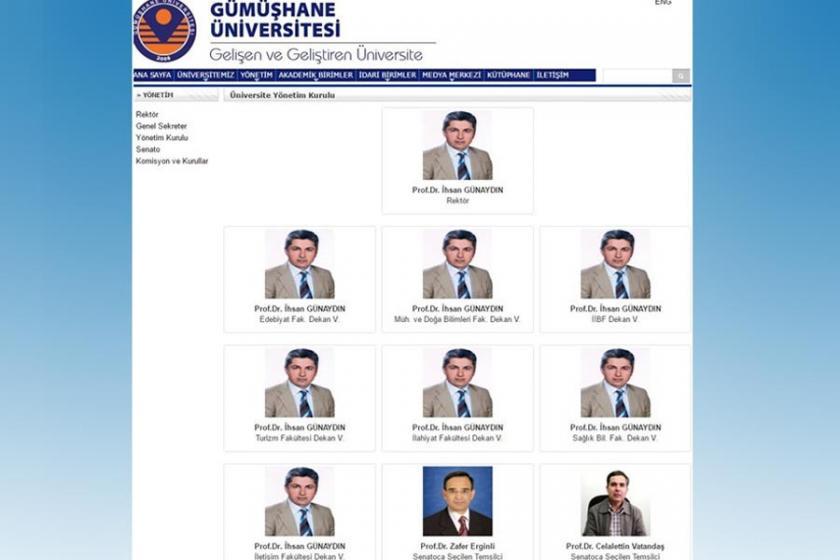 Gümüşhane Üniversitesi'nde 'tek adam' dönemi