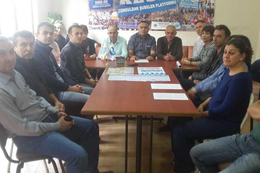 KESK Zonguldak Şubeler Platformu yasağı kınadı