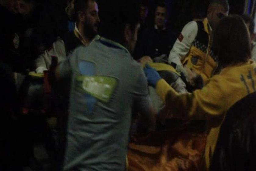 Havalimanında minibüsün çarptığı işçi beyin kanaması geçirdi