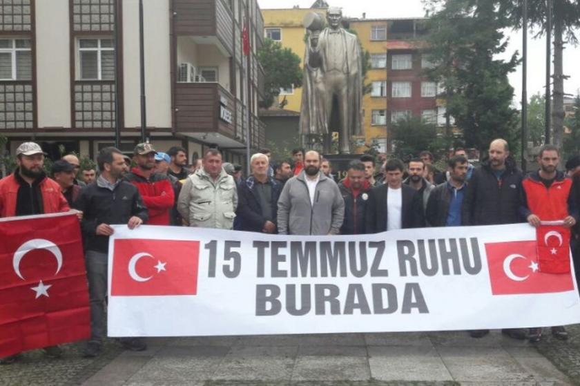 Ardeşen'de ruhsatsız işletmeleri kapatılanlar eylem yaptı