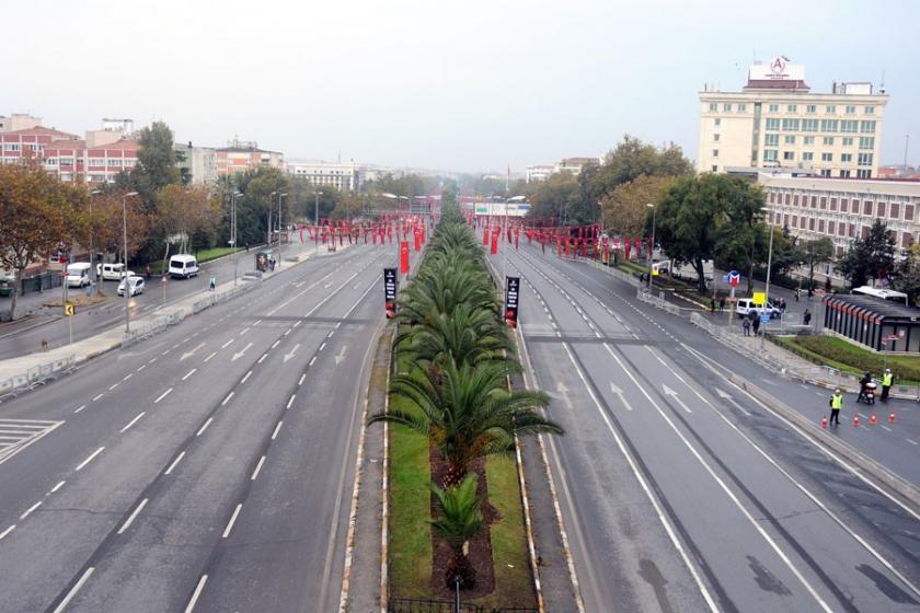 29 Ekim provası nedeniyle bazı yollar kapatıldı