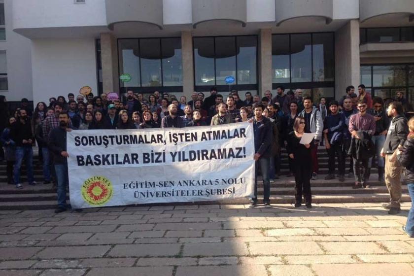 ODTÜ'de soruşturmalara karşı direniş çadırı