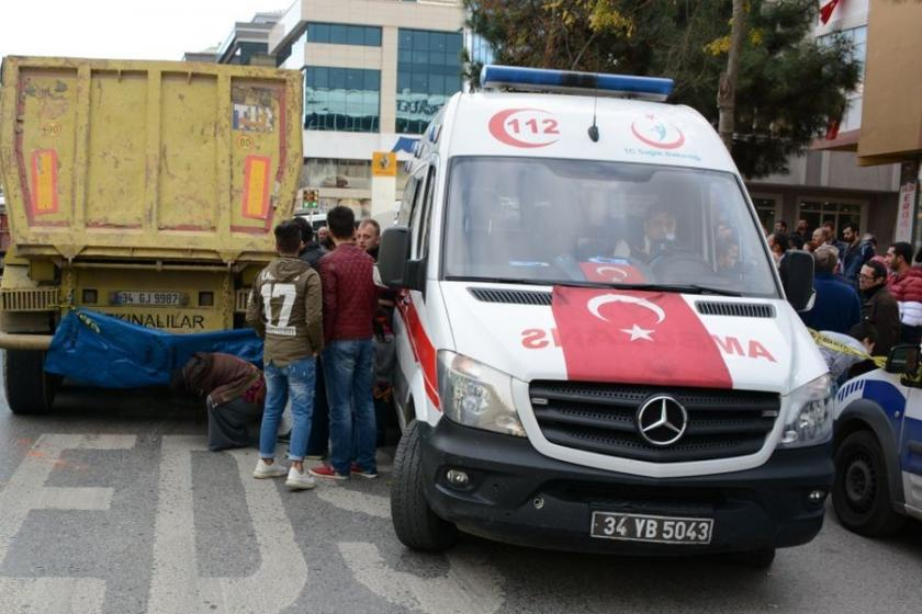 Üsküdar'da hafriyat kamyonunun ezdiği kadın öldü