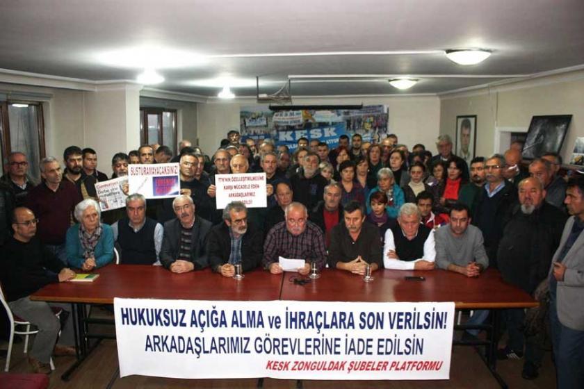 Zonguldak'ta kamu emekçilerinin ihraç edilmesi kınandı