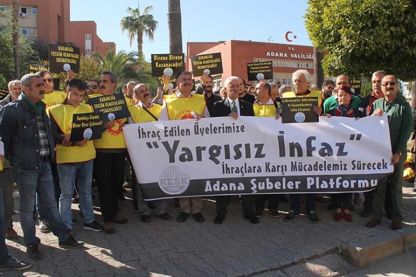 Adana'da ihraç edilen kamu emekçileri itiraz dilekçesi verdi