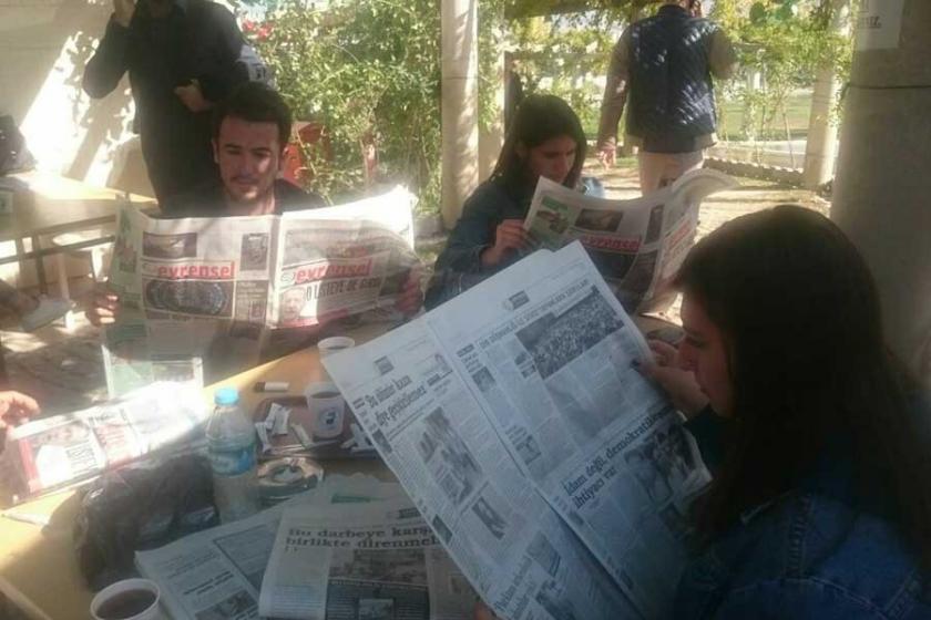 Pamukkale Üniversitesi'nde gazete dağıtımına engel!