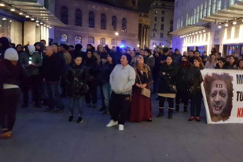 HDP'li vekillere gözaltı Londra'da protesto edildi