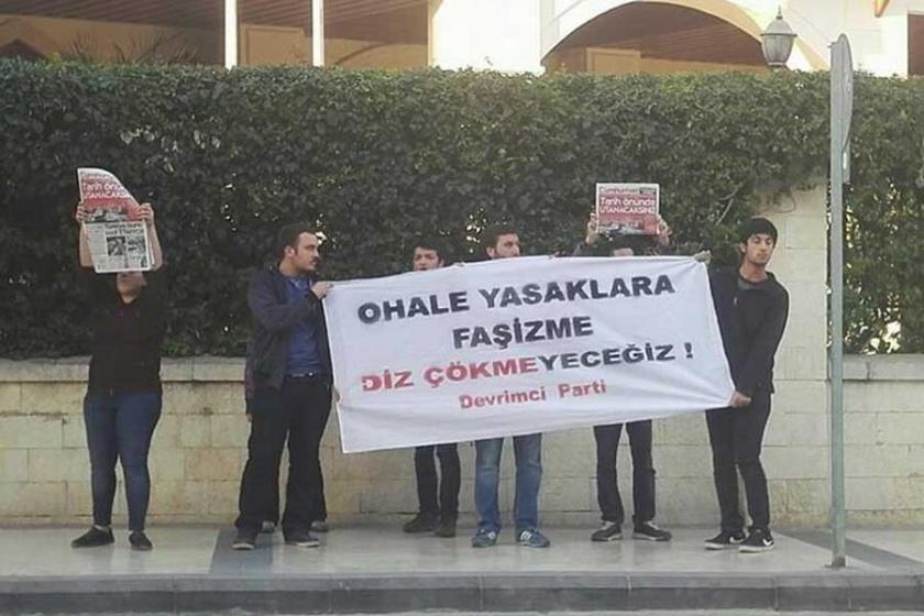 Antalya'da OHAL protestolarına polis saldırısı