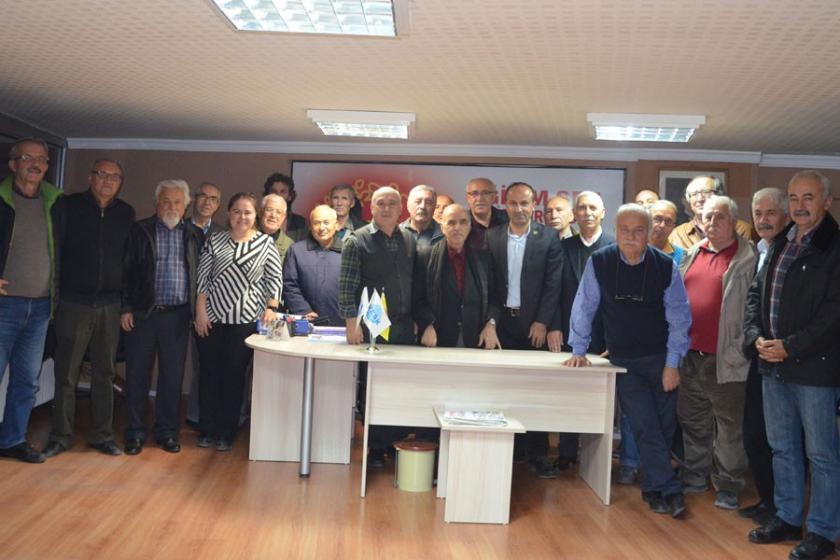 Emekli sendikacılardan eğitim emekçilerine ziyaret