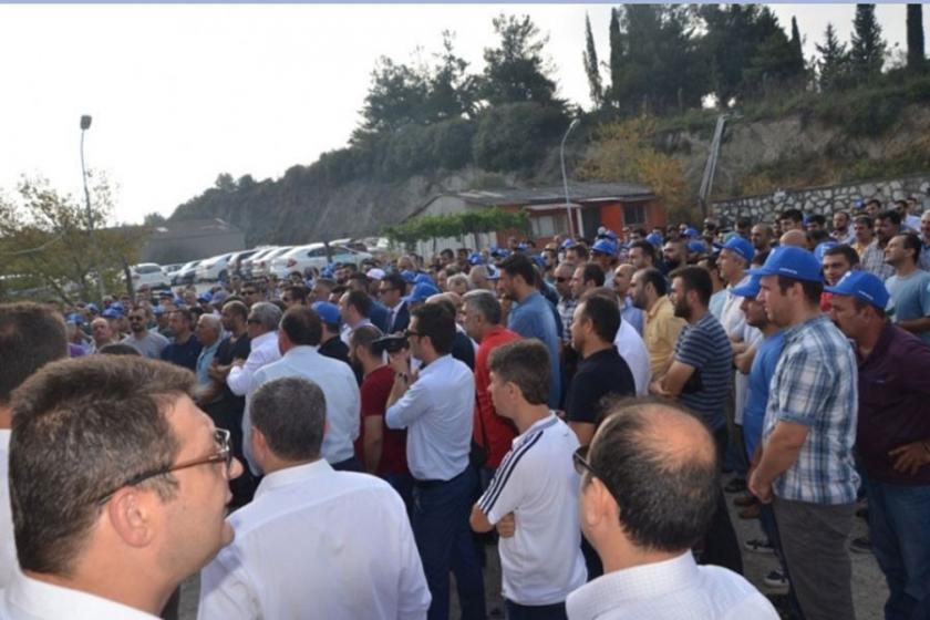 Gemlik Gübre ve Ferrero'da grev sürüyor.