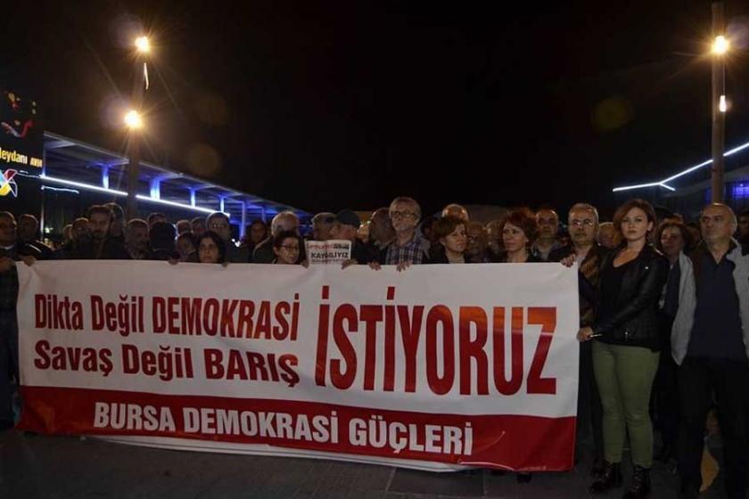 Bursa'dan 'demokrasi ve barış' çağrısı