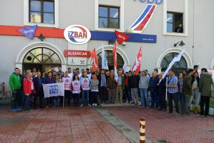 KESK üyeleri, grevdeki İZBAN işçilerini ziyaret etti