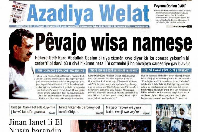 Azadiya Welat Yazı İşleri Müdürü'ne 2 yıl 4 ay hapis