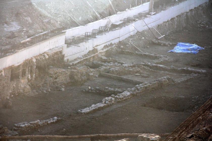 Yol kazısında tarihi hamam ortaya çıktı