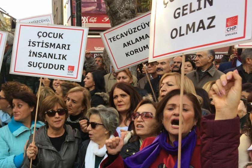 CHP Ankara'da eylem yaptı: Taciz ve tecavüzü teşvik yasası