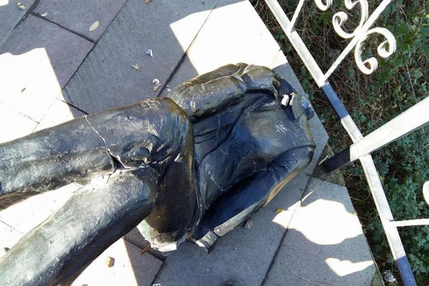 Ordu'da kadın heykeline yine saldırı: Bu kez başı koparıldı
