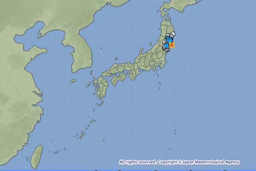 Japonya'da 7.3 büyüklüğünde deprem