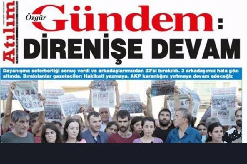 Atılım'a Özgür Gündem ile dayanışma cezası
