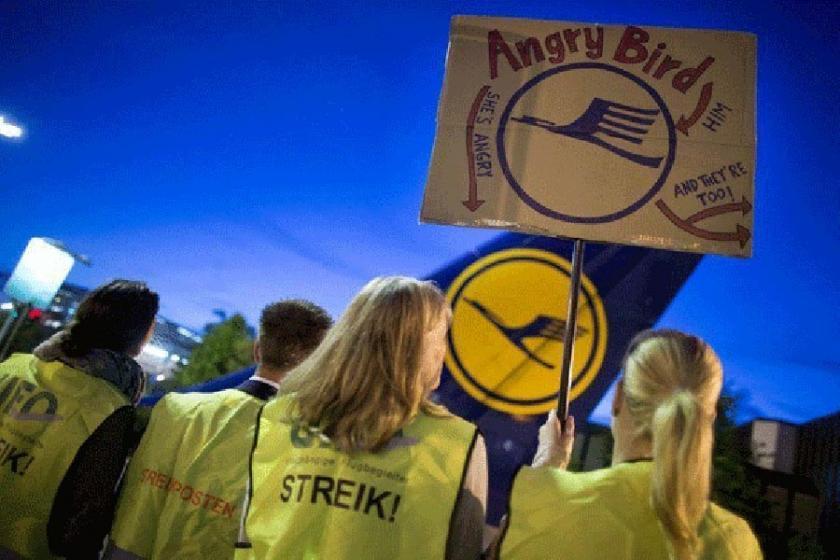 Lufthansa pilotları greve çıktı