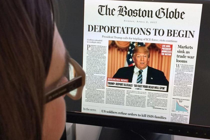 Trump, New York Times'ı ziyaret etti