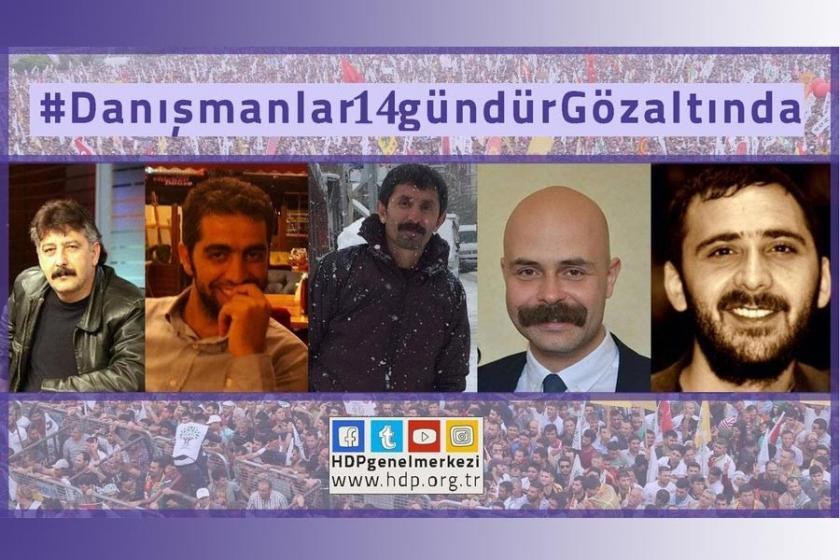 HDP'li vekillerin danışmanları 14 gün sonra serbest