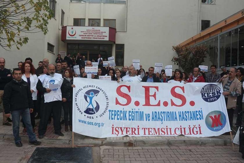 KESK'lilere yönelik ihraçlar İzmir'de protesto edildi